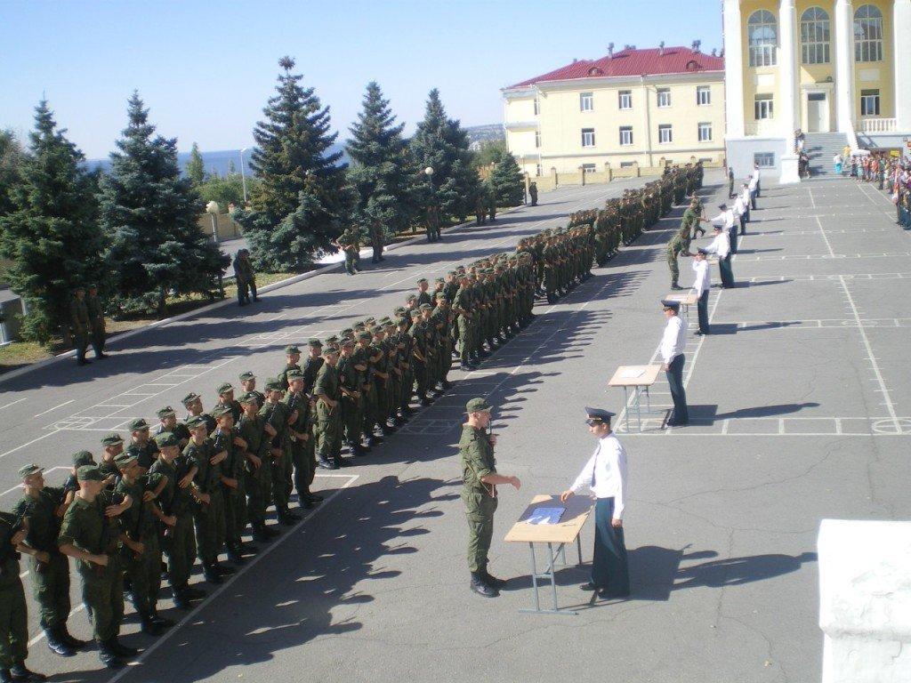 ВЧ 65363. Призывники бригады на принятии воинской присяги