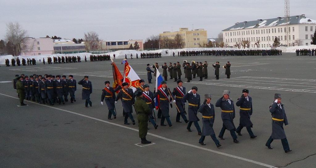 ВЧ 89547. Вынос боевого знамени 7-й отдельной танковой бригады