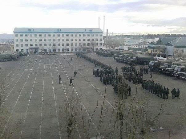 ВЧ11387. Построение на плацу воинской части