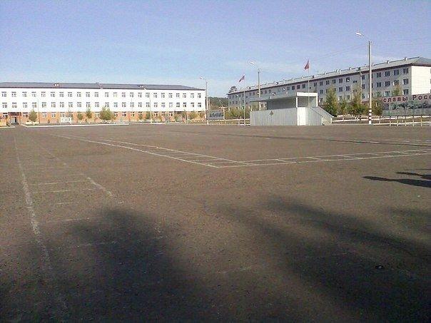 ВЧ69647. Вид на строевой плац