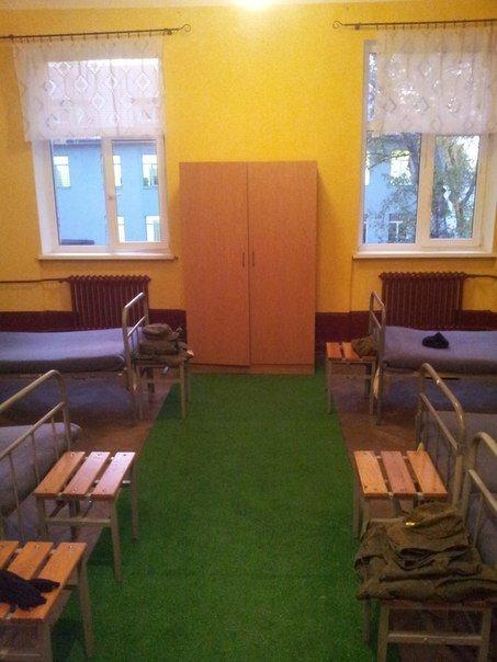 ВЧ 06414. Спальное расположение солдат части
