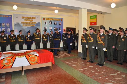 ВЧ 55433. На церемонии освящения боевого знамени