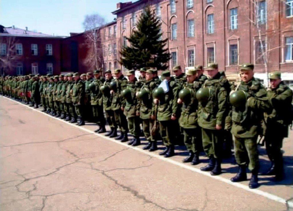 ВЧ 55433. Построение солдат части на плацу