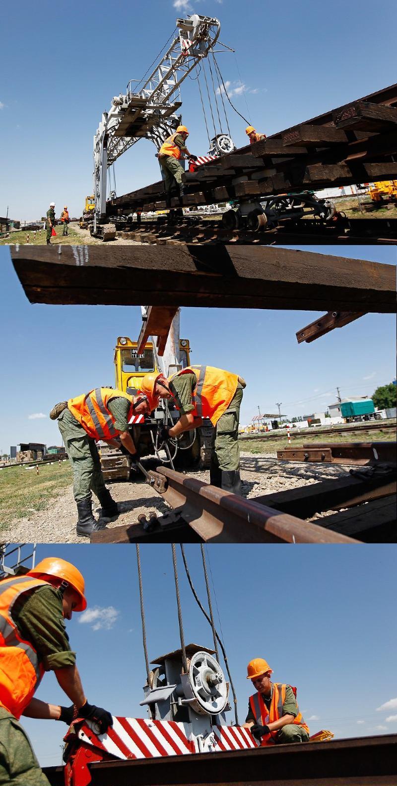 ВЧ01228. Строительство железнодорожного полотна силами 39-й ОЖДБр