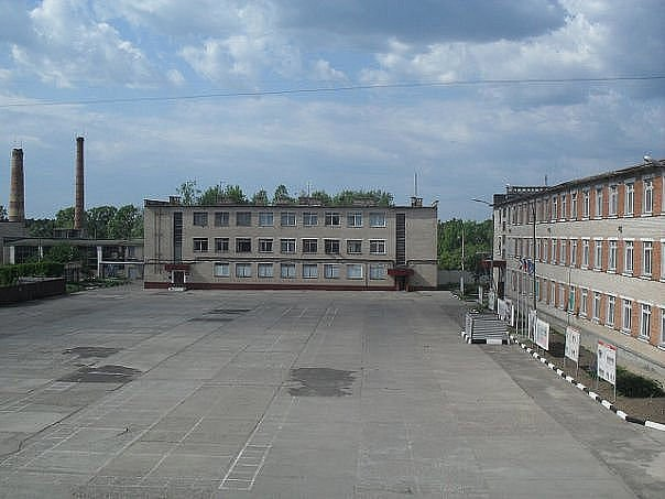 ВЧ03340. Вид на строевой плац 916-го РТУ