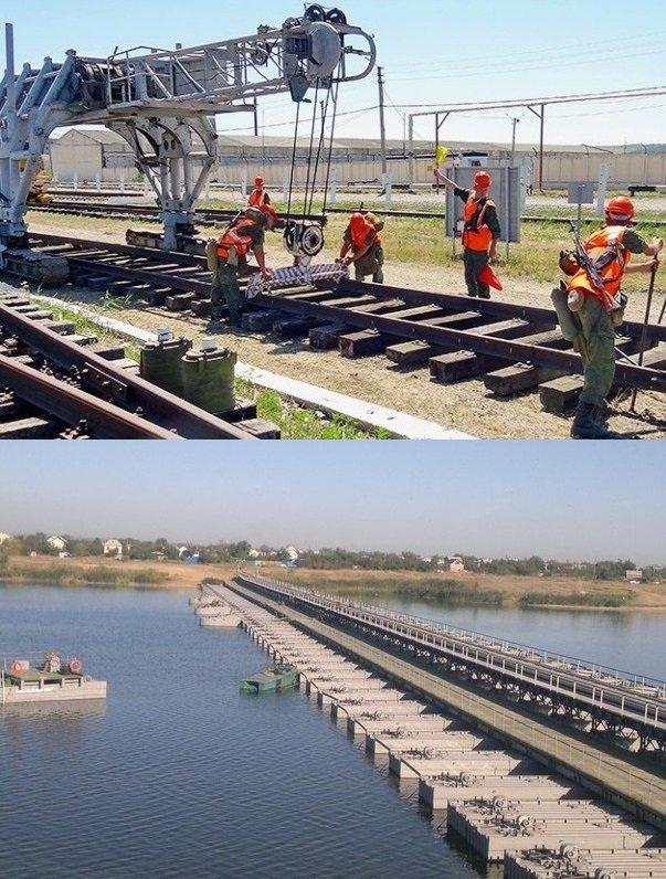 ВЧ51473. Восстановление железных дорог, ремонт мостов