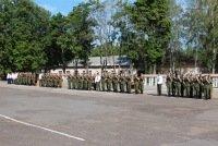 ВЧ58172. Вид на плац воинской части