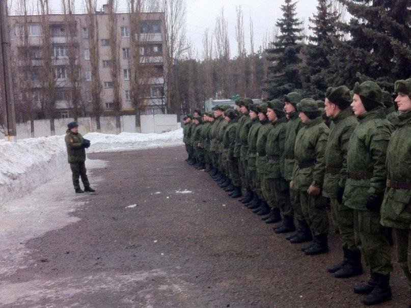 ВЧ 31895. Построение бойцов бригады