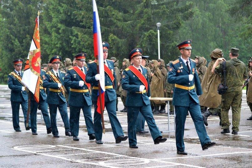 ВЧ32516. Вынос государственного флага и знамени воинской части