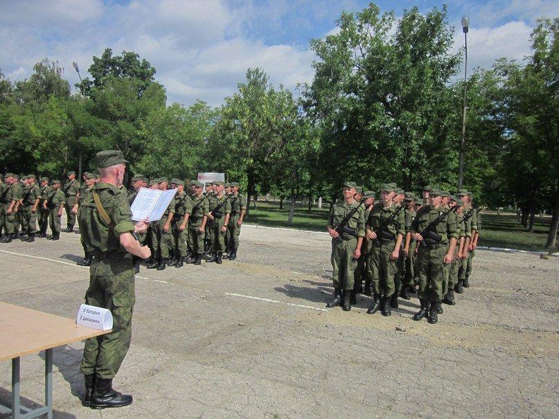 ВЧ50661. Приведение солдат части к присяге на верность РФ