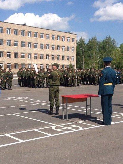 ВЧ 11105. Церемония присяги в бригаде