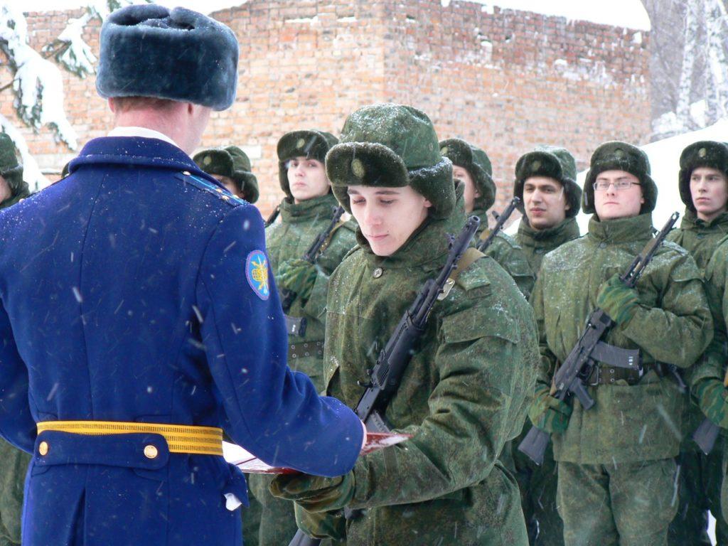 ВЧ 29286. Приведение новобранцев в/ч к воинской присяге