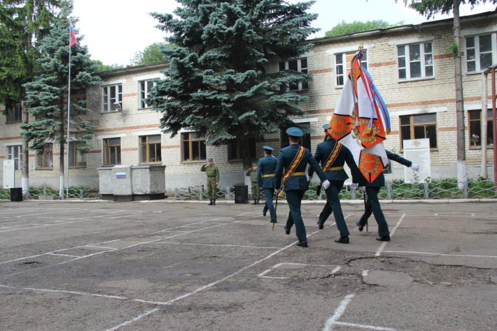 ВЧ 41600. Церемония выноса боевого знамени