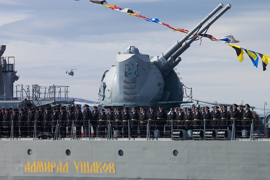 Военно-морской парад с участием авиации в Североморске 9 мая 2015 г. (Мурманская обл.)