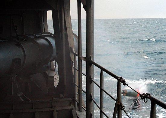 Учения на эсминце СФ «Адмирал Ушаков»