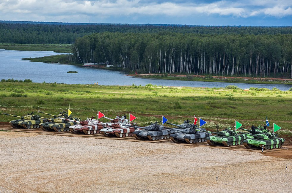 ВЧ 31985. Российский этап соревнований по танковому биатлону