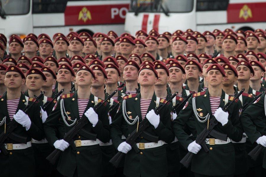 Воины ОДОН на параде Победы