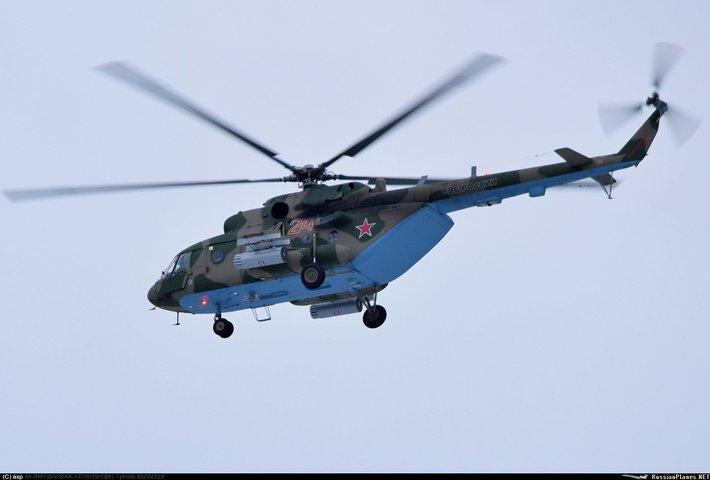 Новый Ми-8МТВ-5 который был передан авиабазе