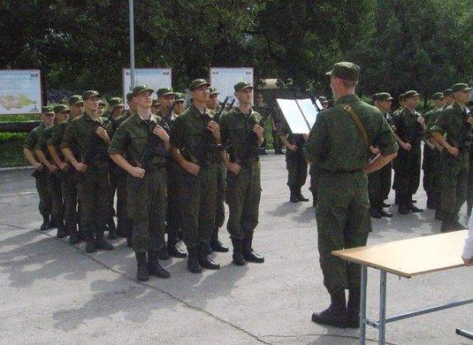 Принятие воинской присяги летом