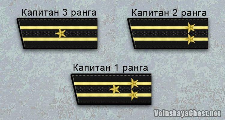 Погоны старшего офицерского состава ВМФ