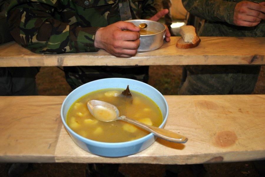 Пример горячего блюда на полигоне