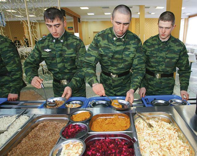 Шведский стол в армии РФ