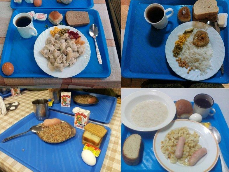 Варианты завтрака в армии России