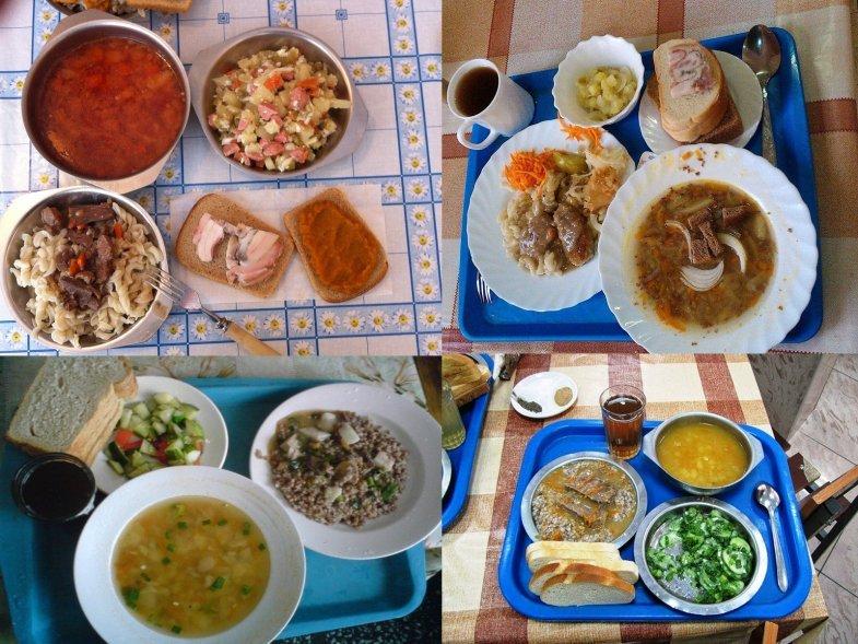 Варианты блюд на обед в армии