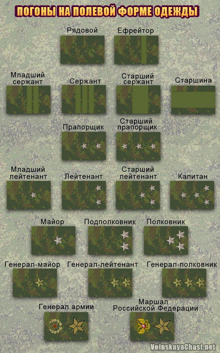 Полевые погоны армии России