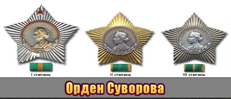 Миниатюра ордена Суворова