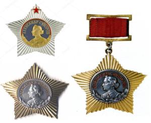 Внешний вид орденов