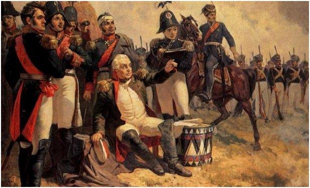 Кутузов во время сражения за Бородино
