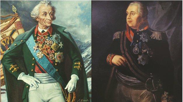 Портреты Суворова и Кутузова
