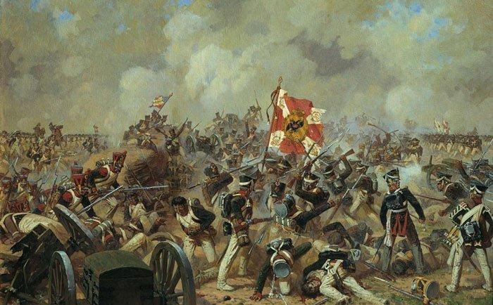 Бой за Багратионовы флеши позволил русским солдатам выстоять на Бородинском поле.