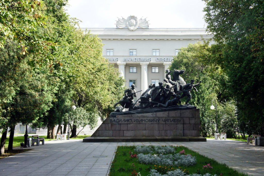 Современное здание Военной Академии связи