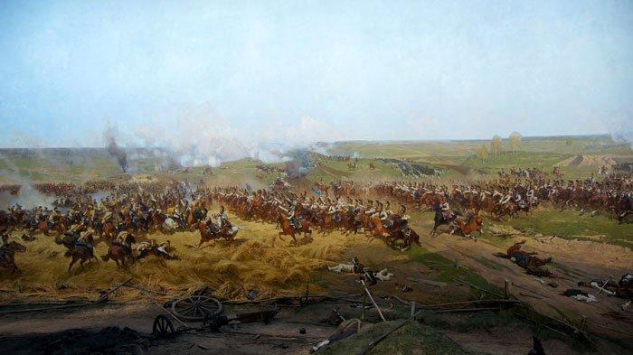 Общей вид Бородинской битвы 1812 г.
