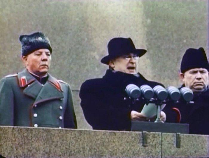 Берия на похоронах Сталина