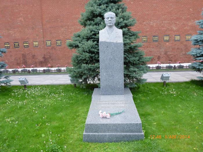 Могила Ворошилова К.Е. на Красной площади