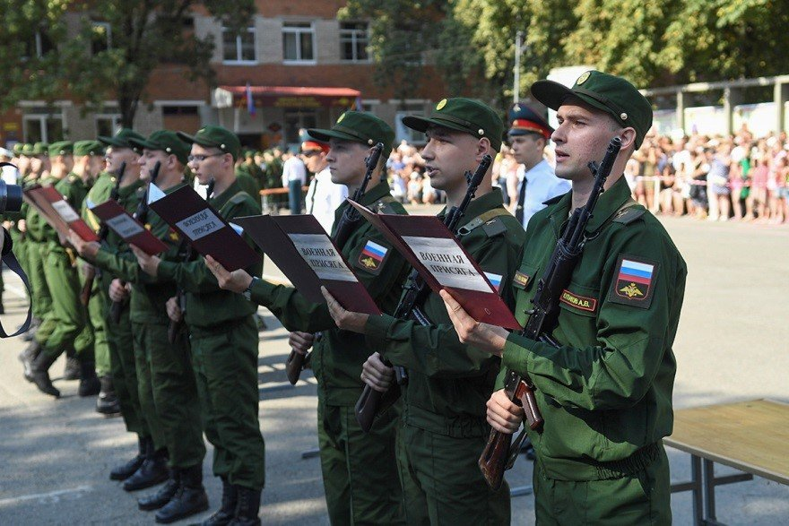 Присяга курсантов военного училища