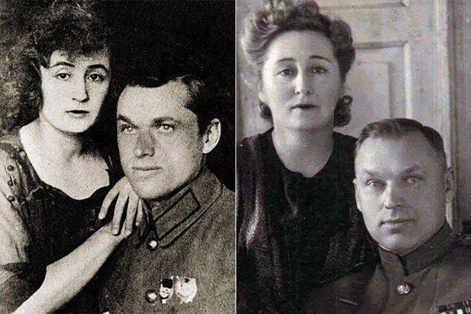 Рокоссовский со своей супругой