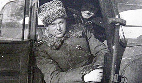 Рокоссовский в машине
