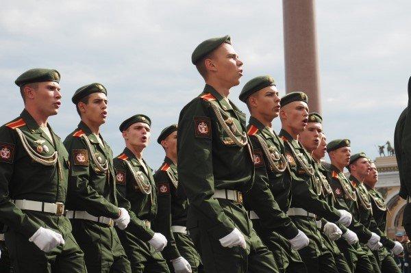 Строевой марш курсантов Военно-медицинской академии