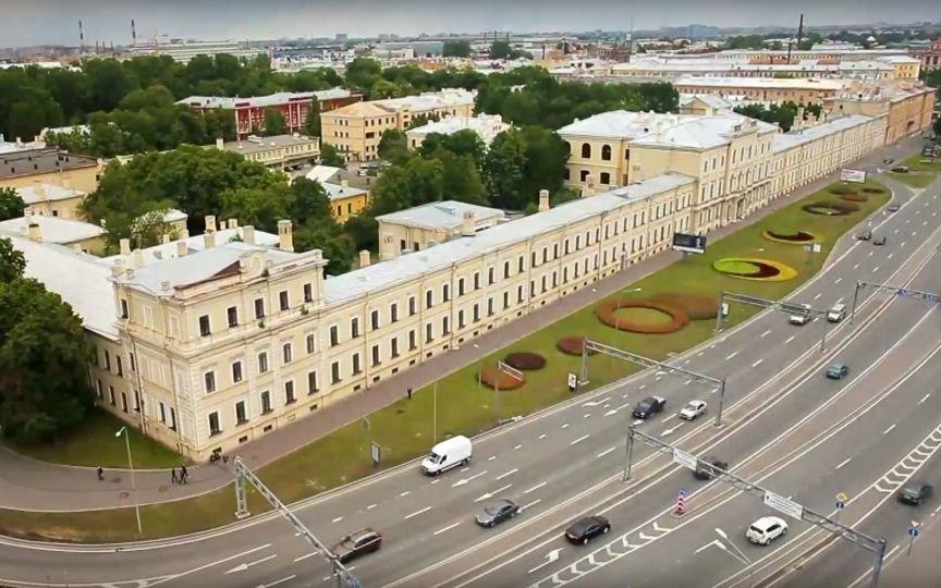 Вид сверху Военно-медицинской академии