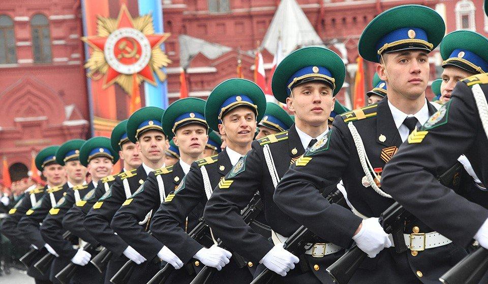 Курсанты-пограничники На Красной площади
