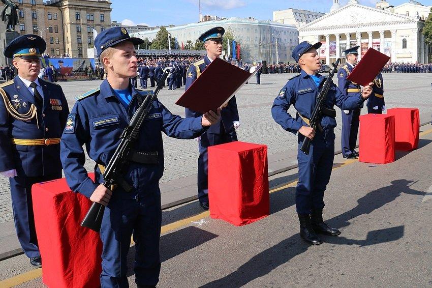 Присяга курсантов военно-воздушной академии