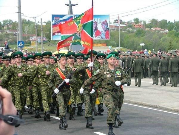 Строевой марш офицеров-пограничников