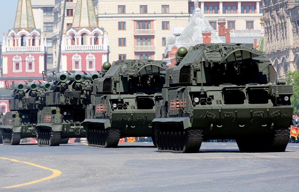 Зенитная техника ПВО на Красной площади