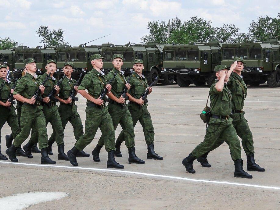 Строевой марш военнослужащих войск ПВО