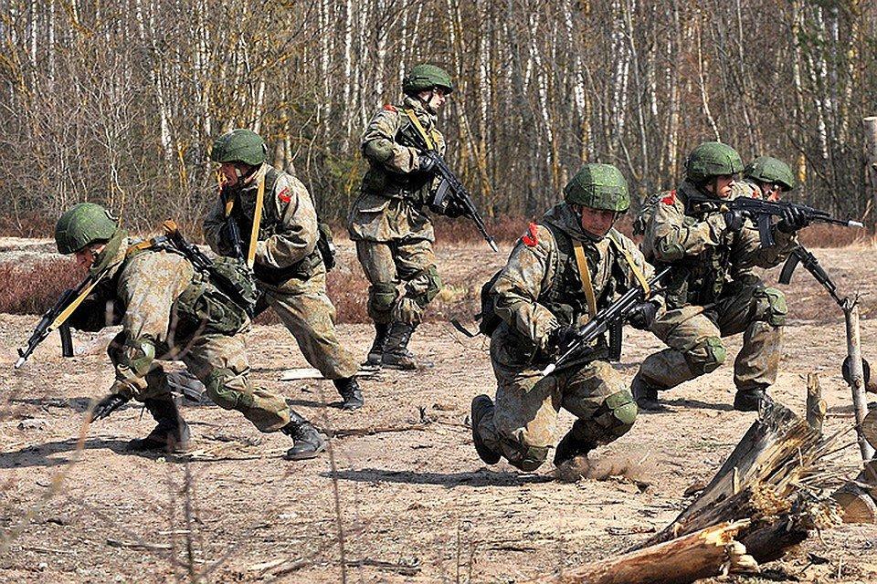 Отделение во время боевой подготовки
