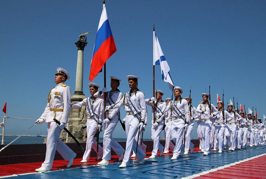 Смотр личного состава ВМФ